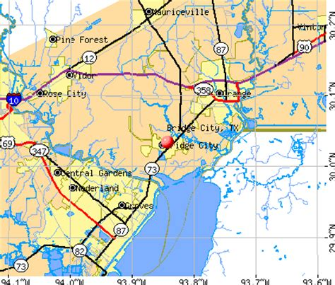 bridge city texas map bridge city texas images