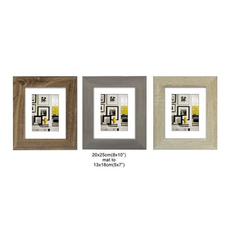 Picture Frames 8x10 Matted by Single Matted 50mm Mdf Picture Frame 8x10 Inches Grey