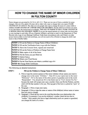 Superior Court Of Fulton County Ga Search Fulton County Name Change Of Minor Help Fill