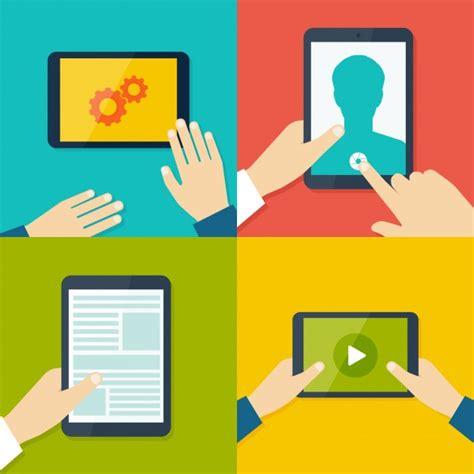 app design vector download tablet and mobile apps design vector free download