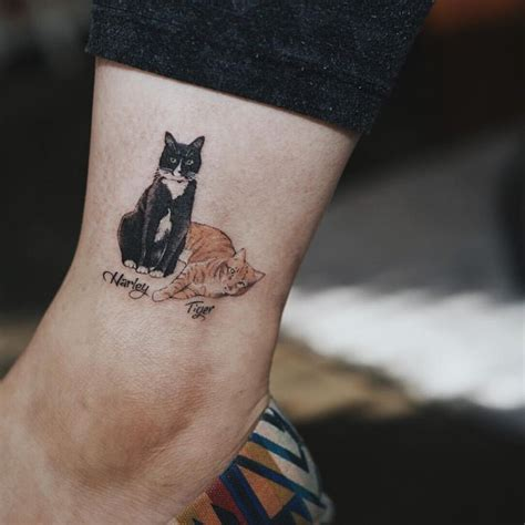 221 best cat tattoo images on pinterest kitty tattoos