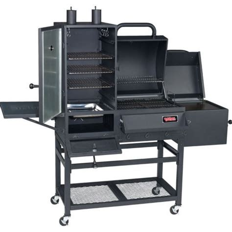backyard smoker grill outdoor gourmet 174 triton charcoal vertical smoker and grill