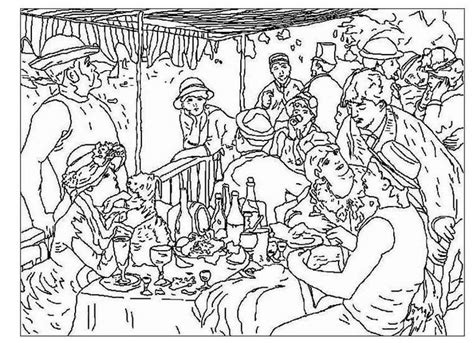 free gogh famous paintings coloring pages