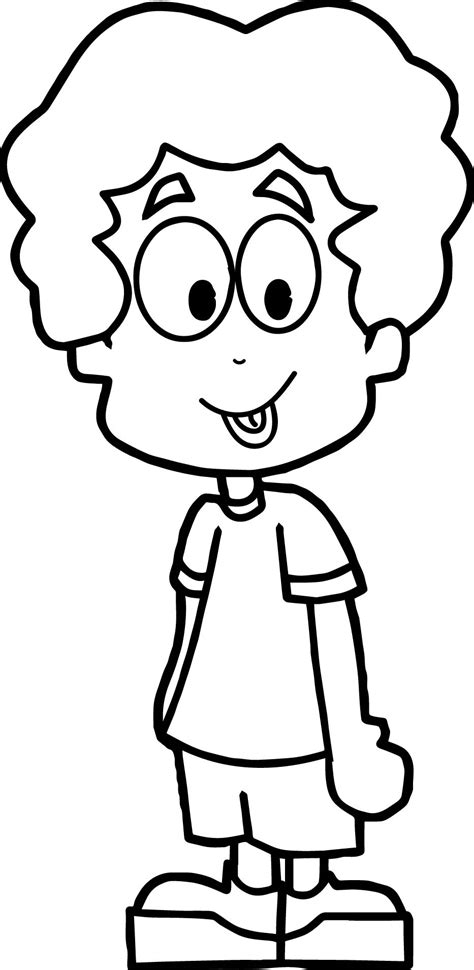 cartoon boy coloring page wecoloringpage