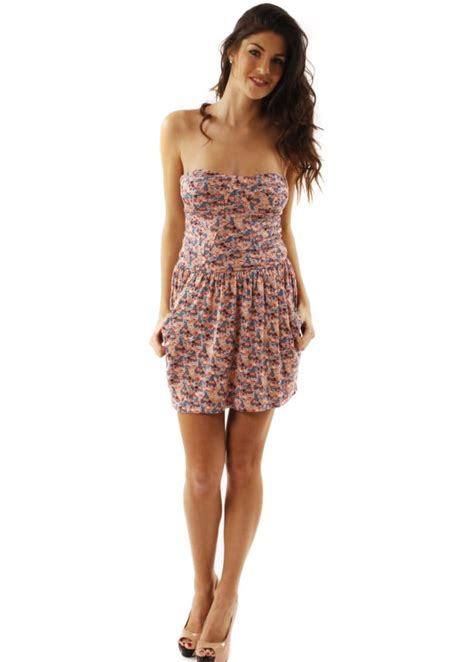 House Of Dereon Dresses by House Of Dereon Dress House Of Dereon Floral Bustier