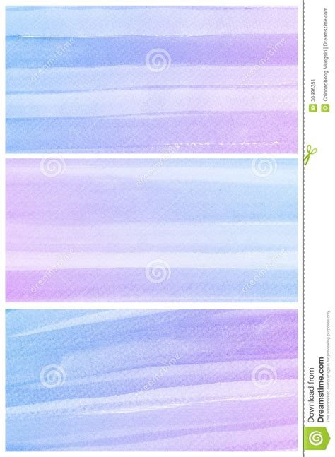 watercolor background set of colorful blue purple abstract water color stock illustration