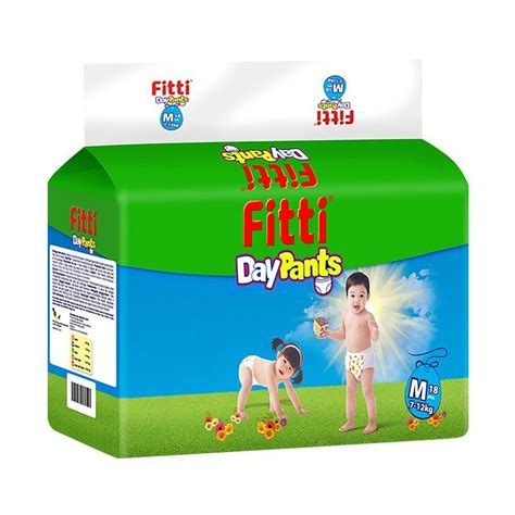 fitti day m 18 jual fitti day popok bayi size m 18 pcs