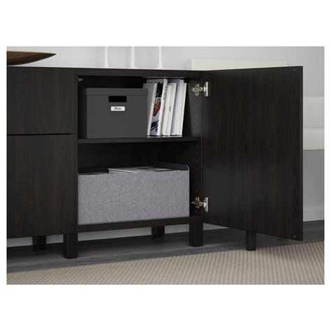 besta black brown best 197 storage combination with drawers lappviken black