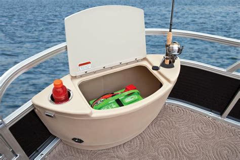 pontoon boat corner livewell can a pontoon boat be a serious fishing boat boats