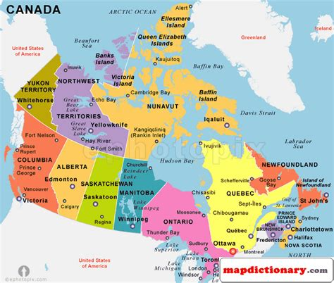 canada map political city world map dictionary