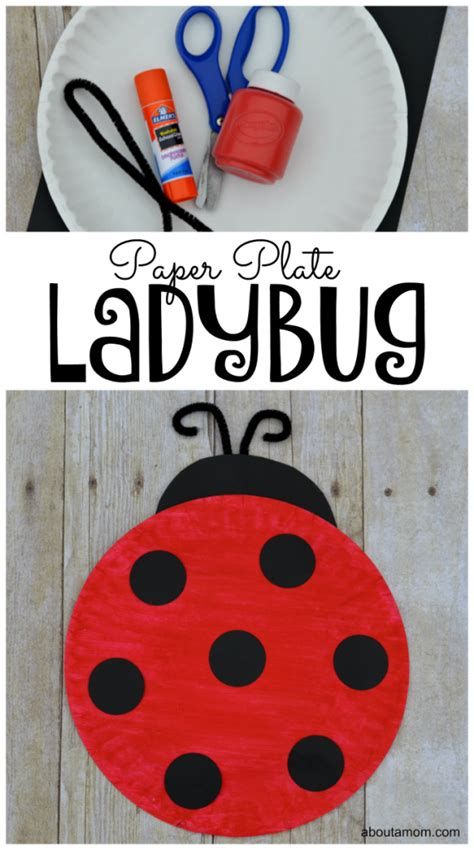 Paper Ladybug Craft - paper plate ladybug craft for about a