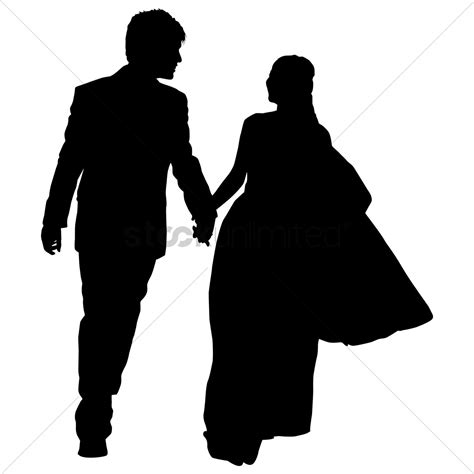 Wedding Silhouette by Silhouette Of A Wedding Vector Image 1253957
