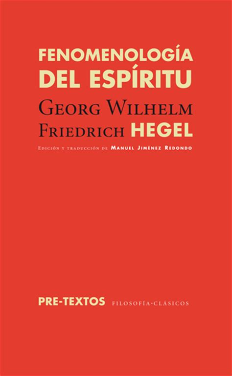 fenomenologia del espiritu fenomenologia 1517320909 editorial pre textos fenomenolog 237 a del esp 237 ritu