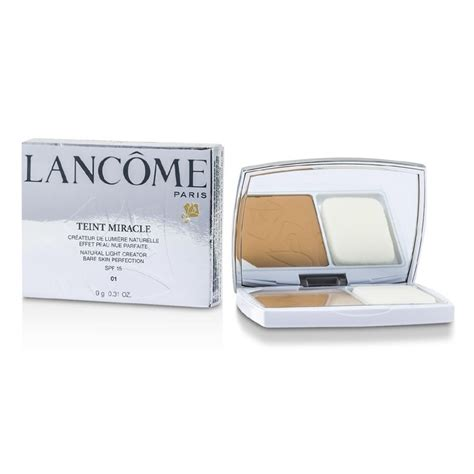 Bedak Compact Lancome teint miracle light creator compact spf 15 01
