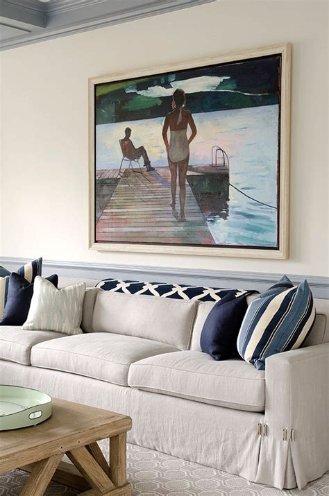 Beige And Navy Living Room by Navy Beige Gray Color Palette Artwork Home Decor