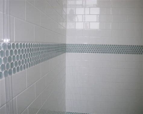 accent tiles for bathroom penny tile accent in the bathroom tile pinterest