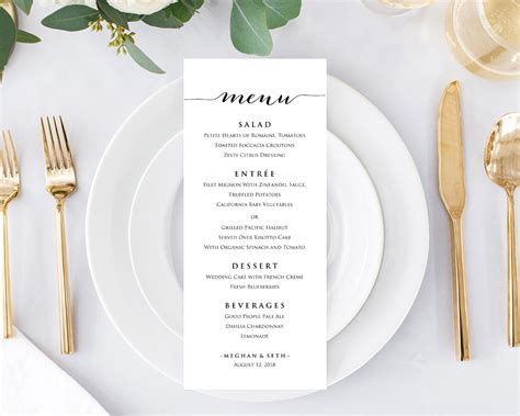 Party And Wedding Menu Templates 183 Wedding Templates And Printables Make Your Own Menu Template Free