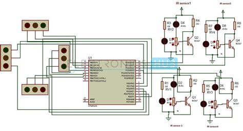 microcontroller based projects with circuit diagram density based traffic signal system using microcontroller