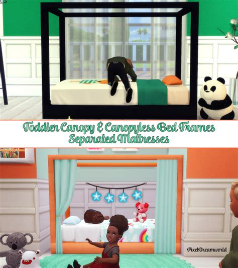toddler canopy bed set sims 4 cc s the best toddler canopy bed set by
