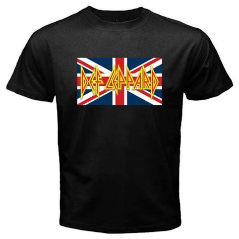 new def leppard uk flag logo rock band legend men s black
