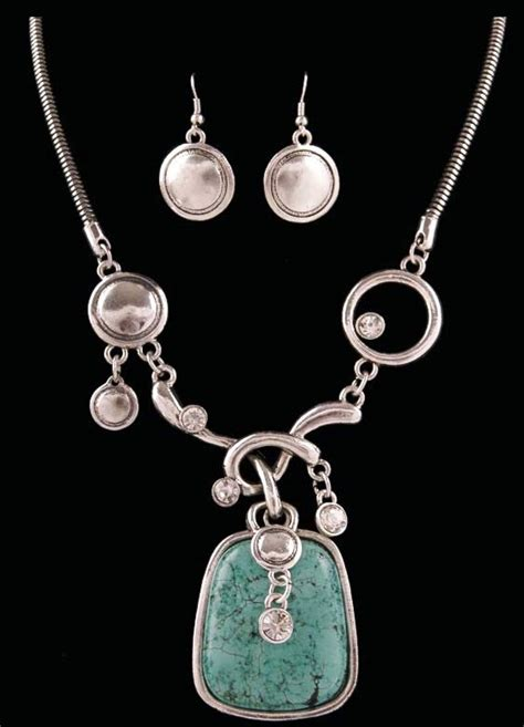 3db ne6350ast western silver turquoise necklace and