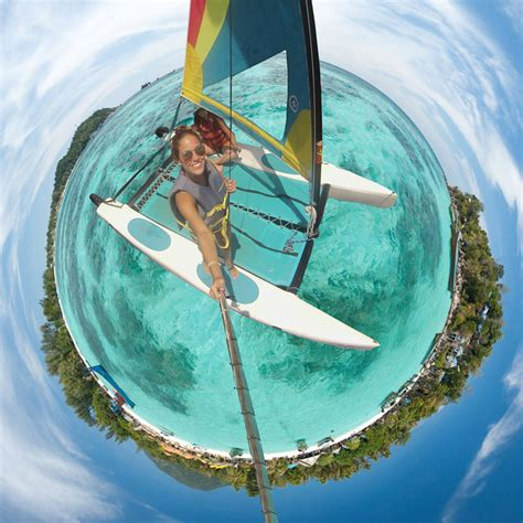 tiny tiny picture of the day sailing through a tiny planet panorama