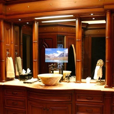 mirror with tv in it bathroom seura television mirrors bathroom mirrors by seura