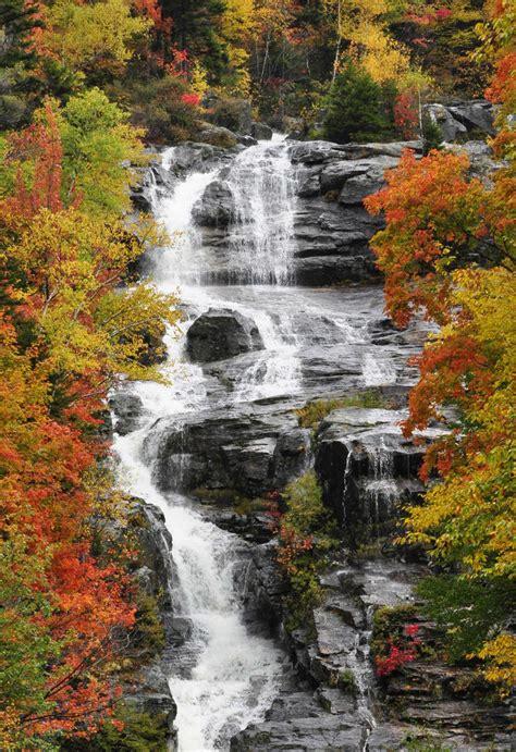 silver cascade nh new england waterfalls foliage and waterfall crawford notch nh 2009 new