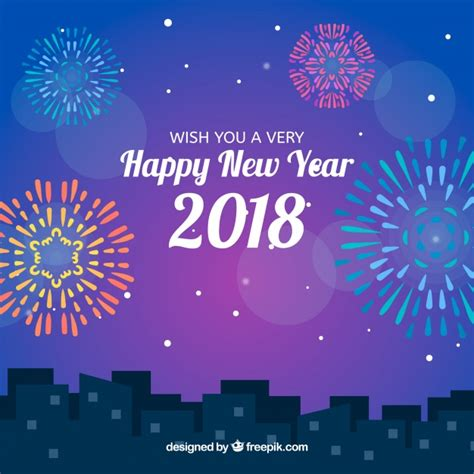freepik new year new year in the city vector free
