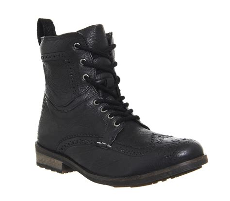 Black Master Boots Laskar Size 39 44 ask the missus keaton brogue boot black leather stiefel