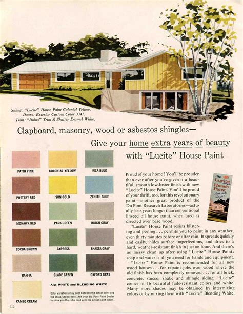 fifties colors exterior colors for 1960 houses retro renovation