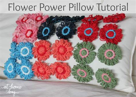 Flower Power Patchwork - flower power pillow tutorial