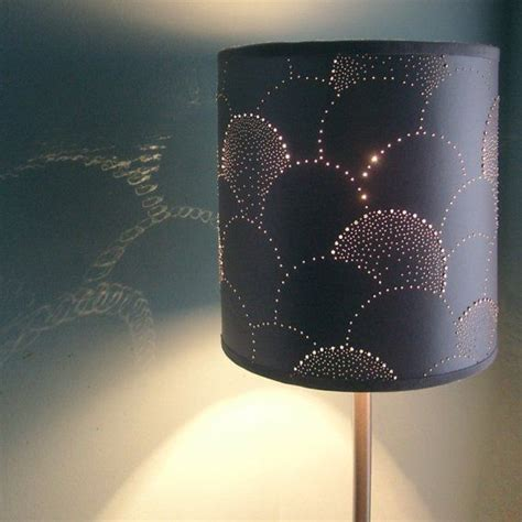 Handmade L Shades Design - punctured paper lshade grey scales design