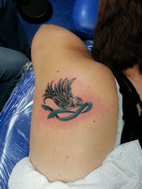 ovarian cancer tattoos designs in memorial of a loss from ovarian cancer tattoos
