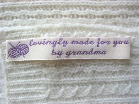 Personalized Labels For Handmade Items - woven labels for handmade items custom sewing labels
