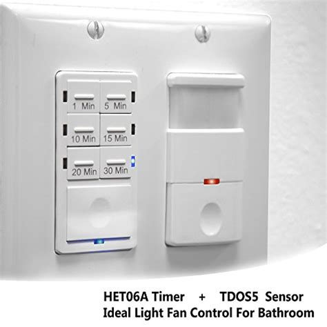 Bathroom Light Sensor Switch Topgreener Bathroom Fan Timer Switch And Light Sensor Switch 30 Minute Timer Preset