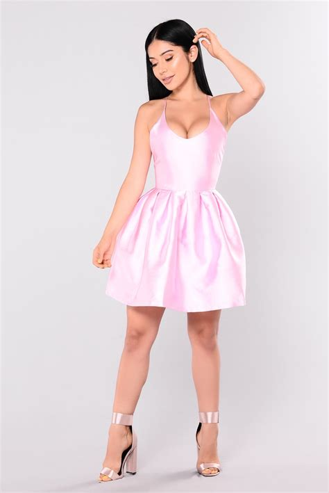Dsbm223781 Pink Dress Dress Pink birthday dress pink