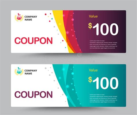 template for giving card gift voucher coupon template design for special time