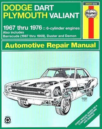 old cars and repair manuals free 1976 plymouth volare lane departure warning dodge dart plymouth valiant repair manual 1967 1976 haynes