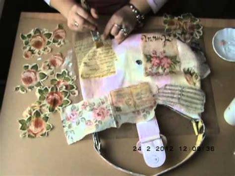 decoupage purse tutorial decoupaged bag tutorial part 2 youtube