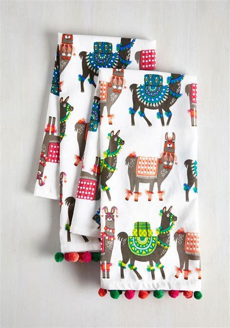 Decorated Tea Towels Llama Tea Towel Set Decor By Color