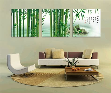 Paint Designs For Kitchen Walls by Aliexpress Com Buy Free Shipping Green Bamboo Painting