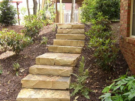 backyard stairs tennessee flagstone stone stairs steps