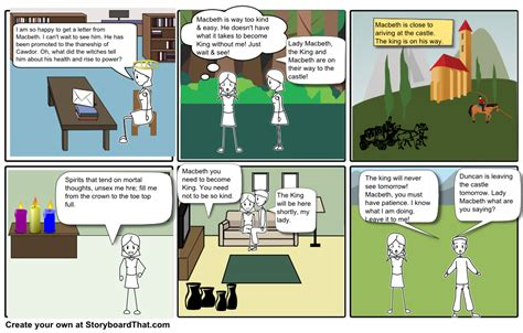 themes of macbeth act 1 scene 5 macbeth act 1 scene 5 storyboard by jacobknox