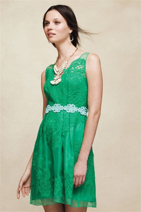 Bj 8586 Green Fresh Dress cloverlacedress anthropologie fashion accessories anthropologie clothes and