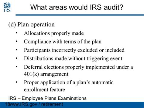 Irc Section 401 K by Irs Employee Plans