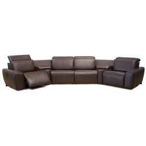 Angled Sectional by Palliser Beaumont 4 Seat Angled Wedge Power Reclining