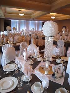 sparkle wedding bling centerpieces with