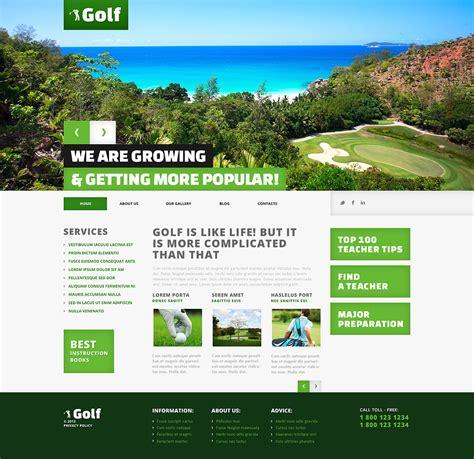 Themes Wordpress Golf | golf responsive wordpress theme 45545