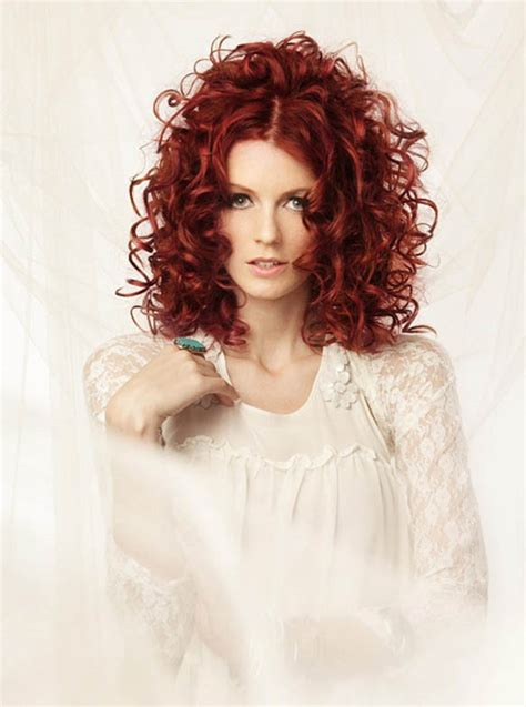 medium permed red hairstyles red perm hairstyle the latest trends in women s
